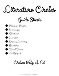 Word Wizard: Guide Sheet for Literature Circles