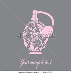 Beautiful Perfume Bottle Made Of The Leaf Pattern Vector EPS10 Illustration