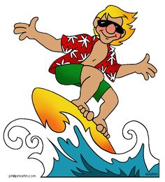 Free Sports Clip Art by Phillip Martin, Surfer Dude