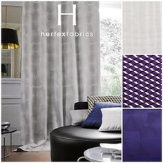 Collection: Casamance - Hotel Particulier With its spectacular geometrical design and elegantly. pinned with Pinvolve Hertex Fabrics, Casamance, Fabric Wallpaper, Elle Decor, Contemporary, Modern, Minimalism, Upholstery, Curtains
