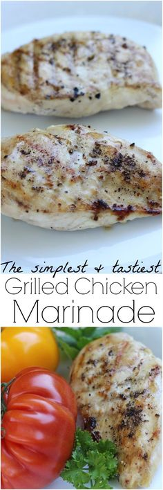 This simple chicken marinade has only 3 ingredients and is so tasty! Chicken Marinades, Easy Chicken Marinade, Easy Chicken Recipes, Turkey Recipes, Keto Chicken, Grilling Recipes, Cooking Recipes, Budget Recipes, Cooking Tips
