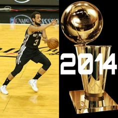 SPURS MARCO BELINELLI 2014 NBA CHAMPION