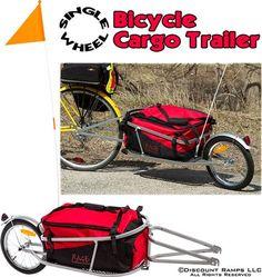 The single wheel bicycle cargo trailer