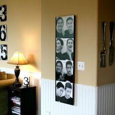 Life Size Photo Booth Wall Art- Today's Creative Blog @Spoonful #DIY Would be so cute in a kids room.