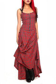 Lip Service Red Plain Long Halter Dress