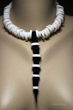 002black and white  Marlene Brady #polymer clay jewelry #Marlene Brady pinned by www.Etsy.com/shop/MaryClaire