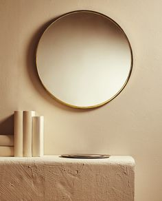 Zara Home New Collection Gold Framed Mirror, Mirror Mirror, Zara Home Canada, Zara Home Collection, Living Room Mirrors, Home Accessories, Wall Lights, Home Decor, Houses