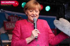 Tag des Handwerks in Stralsund 2013, Besuch der Bundeskanzlerin Angela Merkel auf dem Alten Markt. http://zukunfthandwerk.ning.com
