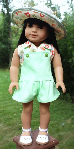 18 Inch Doll Clothing, Farmer's Market Outfit, Summer Doll Clothes