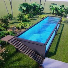 You can plan a swimming pool in any kind of dimension, form, design, or type. These dreamy swimming pool design ideas will transform your yard right into an outside oasis. Backyard Pool Designs, Small Backyard Pools, Swimming Pools Backyard, Swimming Pool Designs, Pool Landscaping, Small Pools, Pool Decks, Building A Container Home, Container Buildings