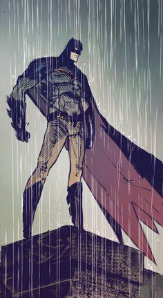 "A Rainy Day Day in Gotham in  Batman v2 #52 ""The List"" (2016) - Riley Rossmo, Inks: Riley Rossmo & Brian Level, Colors: Ivan Plascencia & Jordan Boyd"