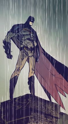 "A Rainy Day Day in Gotham in  Batman v2 #52 ""The List"" (2016) - Riley Rossmo, Inks: Riley Rossmo & Brian Level, Colors: Ivan Plascencia & Jordan Boyd"