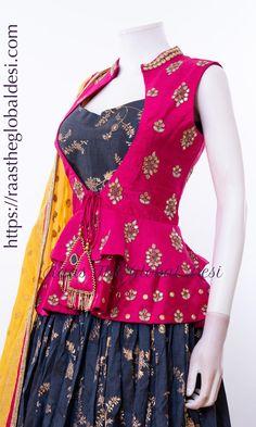 Source by Blouses Choli Designs, Lehenga Designs, Kurti Designs Party Wear, Stylish Blouse Design, Fancy Blouse Designs, Designs For Dresses, Blouse Neck Designs, Blouse Patterns, Choli Dress