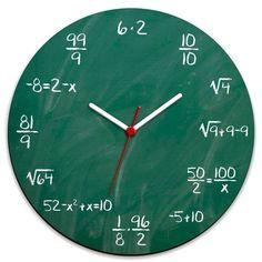 Relógio de Parede Matemático - L3 Store - Presentes Criativos