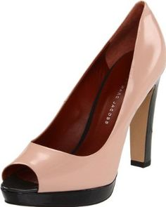 I love the pink color! They also come in your basic black. #shoes #heels #pumps #highheels #leather #pink