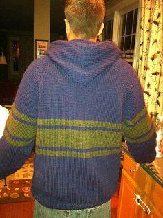 Ravelry: ellejay119's Neckdown Hooded Pullover for Men