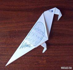 How to make an origami parrot - перевод Кати