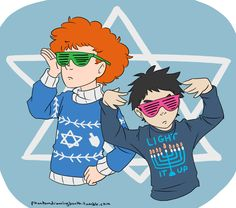 Happy Hanukkah from the awesome Broflovski bros! South Park Funny, Kyle South Park, South Park Memes, Gumball, Otp, Bane Of My Life, Butters South Park, Kyle Broflovski, South Park Fanart