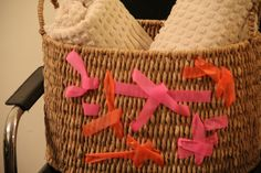 #DIY neon-embellished laundry basket (inspired by fashion week), see how we did it here: http://twice-inspired.com/?p=1156