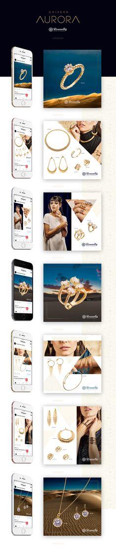 Criação para rede sociais da marca Ronnelly Joias Folheadas. Coleção AURORA.http://ronnelly.com.br/https://www.facebook.com/ronnellyjoiasfolheadas