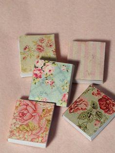 Dollhouse Miniature Victorian Floral Books by miniaturerosegarden, $15.00