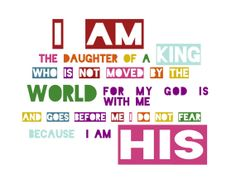 I am the daughter of a king by SevenElles on Etsy digital download