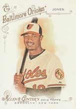 2014 Topps Allen Ginter Baseball SP #321 Adam Jones, Baltimore Orioles