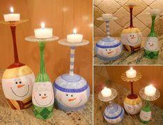 Porta candele fai da te » Spettegolando