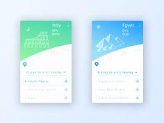 Travel App by Vishikh #Design Popular #Dribbble #shots