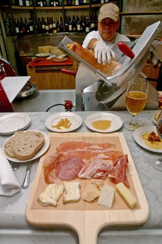Eataly NYC - meat & cheese board, one of Mom's favorite lunch choices!