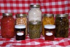 Home grown and home canned foods.