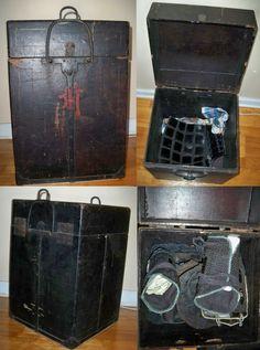Antique Edo period samurai yoroi hitsu/bitsu (armor storage box).