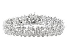 1.96ctw Round Diamond Rhodium Over Sterling Silver Bracelet