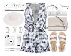 """""""Whites"""" by smartbuyglasses ❤ liked on Polyvore featuring Boohoo, Ray-Ban, Michael Kors, Capri Positano, This Works, Maison Michel, Miss Selfridge, Lumene, Context and white"""