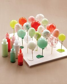 Painting glass ornaments