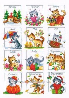 French Kitten Calendar