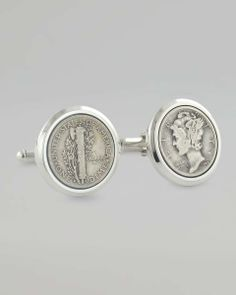 Love the David Donahue Mercury Dime Cuff Links on Wantering | Gifts for Him | mens cuff links | mens jewelry | mens accessories | mens style | mens fashion | wantering http://www.wantering.com/mens-clothing-item/mercury-dime-cuff-links/aauoF/