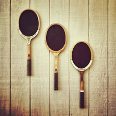Chalkboard tennis rackets. Love this for a boys room. Like em? you can buy them from my brother, @Ian Nigh :)