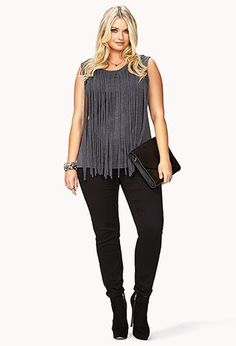 Fringed Top | FOREVER21 PLUS - 2000075394