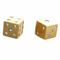 golden Dice | Gold and Diamond Dice at 1stdibs
