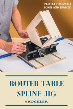 Ideal for use with smaller boxes and frames, making it easy to add a wide variety of strong, beautiful splines to the corners. Create with confidence today!  #createwithconfidence #routertable #routerjig #spline #splinejig