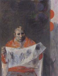 Man in orange, 1951, Bernard Patrick Arnest