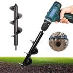 UltraGarden™ - Spiral Drill Bit – saturnprimeco When To Plant Vegetables, Digging Holes, Replant, Planting Bulbs, Types Of Soil, Diy Supplies, Flower Planters, High Carbon Steel, Earth