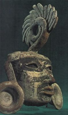 Clay mask from Teotihuacan, circa 1 BC - 900 AD.