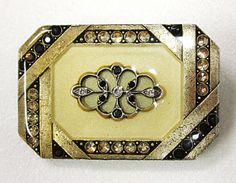 Catherine Popesco Pin  France Art Deco  Marcasites Set by COBAYLEY