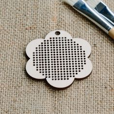 Cross stitch style snowflake rubber stamp by Perlenfischer mounted on an easy to use wooden block. Wooden Craft Shapes, Wooden Crafts, Cross Stitch Flowers, Ink Color, Wood Blocks, Background Patterns, Card Stock, Craft Projects, Christmas Cards