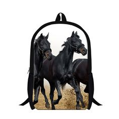 Dispalang Brand Animal Horses Backpack For Teenager Boys School Bags Mens Travel Rucksack Children Shoulder Book Bag Mochila Horse Backpack, School Bags For Boys, Mens Travel, Horse Print, School Backpacks, Baby Kids, Horses, Stylish, Children