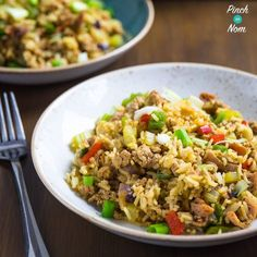Syn Free Dirty Fried Rice: Combination of fried rice and dirty rice. Chinese and Cajun together to form the best Syn Free Slimming World Fried Rice ever!