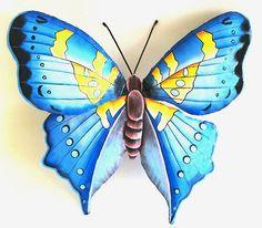 320 Handcrafted Metal Butterflies Metal Art Hand Painted Butterfly Wall Hangings Ideas Butterfly Wall Decor Butterfly Wall Tropical Wall Decor