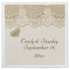 http://www.zazzle.com/white_lace_heart_on_burlap_rustic_wedding_taylorcorpnapkin-256571397906189222?rf=238022351599441980